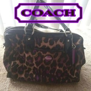 Coach Ocelot Purple Satchel purse